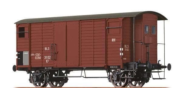BRAWA 67852 - Gedeckter Güterwagen Bauart K2 der BLS
