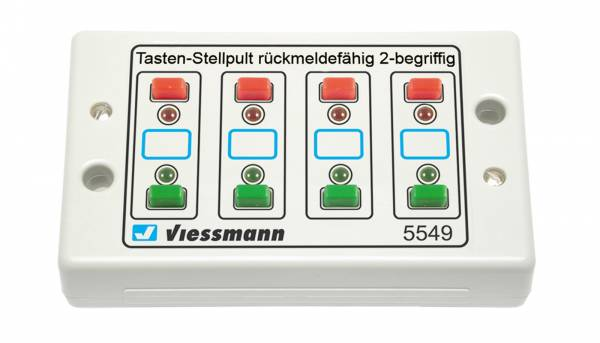 Viessmann 5549. Universal-Tasten-Stellpult, 2-begriffig mit Rückmeldung.