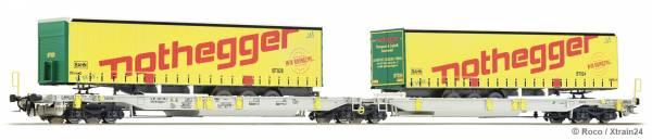 Roco 76433 - Doppeltaschen-Gelenkwagen Bauart Sdggmrs/T2000 der AAE