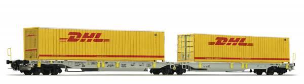 Roco 76421 - Doppeltaschen-Gelenkwagen Bauart Sdggmrs/T2000 der AAE