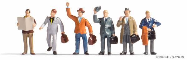 Geschäftsreisende Set mit 6 Figuren. NOCH 36226