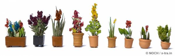NOCH 14080. Zierpflanzen in Blumentöpfen.