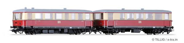 Triebwagen Baureihe VT135 mit Beiwagen Baureihe VB140 der DR. TILLIG 74191