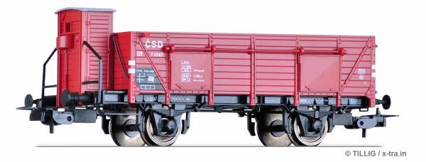 TILLIG 76676. Offener Güterwagen Ut der ČSD
