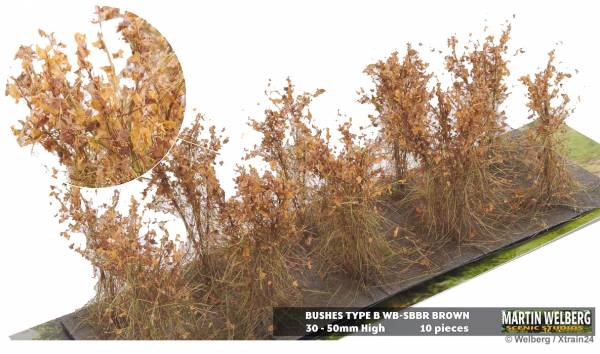 Welberg SBBR Büsche braun, 3-4 cm, 10 Stück