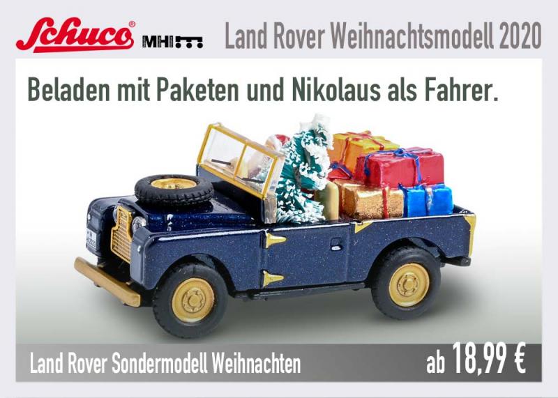Schuco Weihnachtsmodell MHI Landrover 452656100