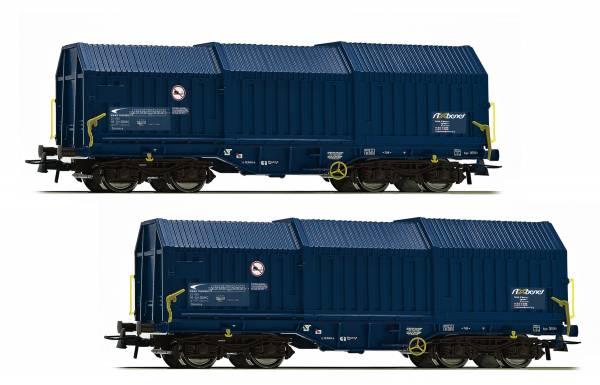 Roco 76446 - 2-teiliges Set Teleskophaubenwagen, Bauart Shimmns ZSSK Cargo