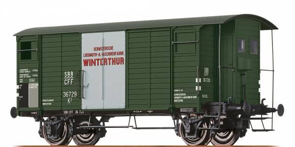 """BRAWA 47867 - Gedeckter Güterwagen Bauart K2 """"SLM Winterthur"""" der SBB"""