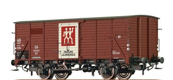 """BRAWA 49740 - Gedeckter Güterwagen Bauart G10 """" Zwilling"""" der DB"""