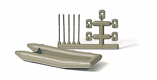 Preiser 18367 - Schlauchboot, Paddel