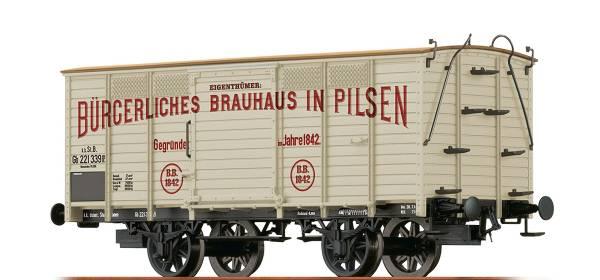 "BRAWA 48030 - Gedeckter Güterwagen Bauart Gb ""Pilsen"" der kkStB"