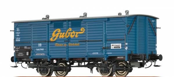 """BRAWA 48663 - Milchwagen Bauart Gh 03 """"Gubor Schokolade"""" der DB"""