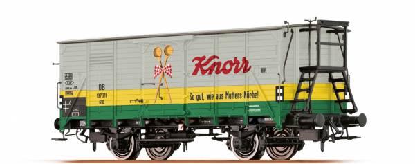 """Gedeckter Güterwagen G10 """"Knorr"""" der DB, Ep. III. BRAWA 49732"""