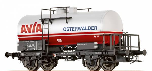 """BRAWA 49237 - Kesselwagen Bauart ZZ [P] """" Avia Osterwalder"""" der SBB"""