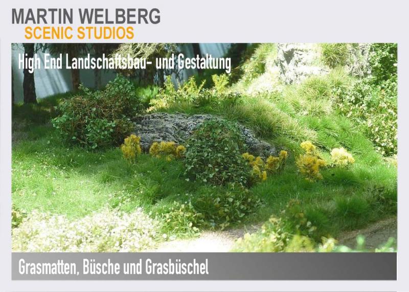 Martin Wekberg Scenery, Büsche, Grsaflocken, Grasbüschel, Landschaftsbau