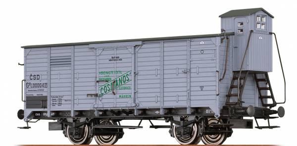 "BRAWA 49092 - Gedeckter Güterwagen Bauart Gg ""Cosmanos"" der CSD"