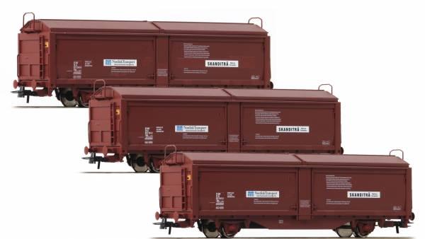 Roco 76169 - Set mit Schiebewandwagen, Bauart Tbis der SJ