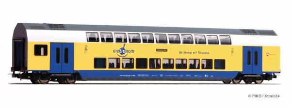 PIKO 58809 - Doppelstockwagen 2. Kl. der Metronom mbH