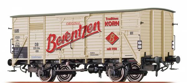 """BRAWA 49045 - Gedeckter Güterwagen Bauart G10 """"Berentzen Traditionskorn"""" der DB"""