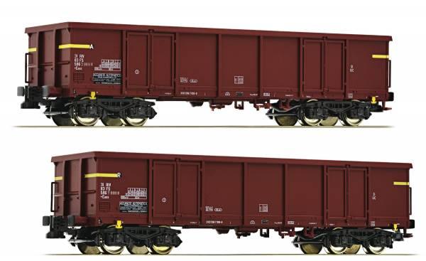 Roco 76127 - 2-teiliges Set: Offene Güterwagen der FS