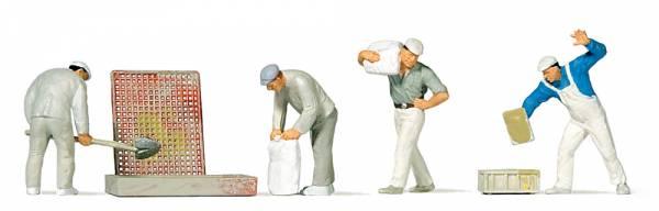 Preiser 10654 - Bauarbeiter beim Verputzen