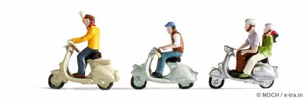 Motorrollerfahrer. NOCH 36510