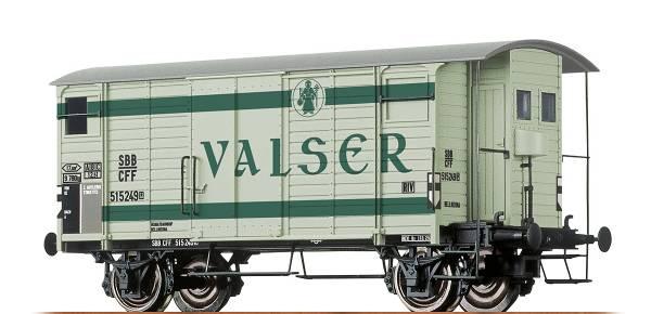 """BRAWA 67854 - Gedeckter Güterwagen Bauart K2 """"Valser""""der SBB"""