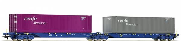 Roco 76641 - Doppeltragwagen Bauart Sggmrs der RENFE
