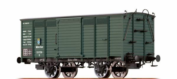 BRAWA 48027 - Gedeckter Güterwagen Bauart G der K.Bay.Sts.B.