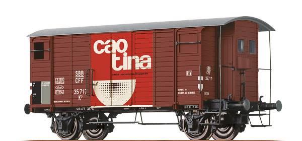 "BRAWA 47859 - Gedeckter Güterwagen ""Caotina"" Bauart K2 der SBB"