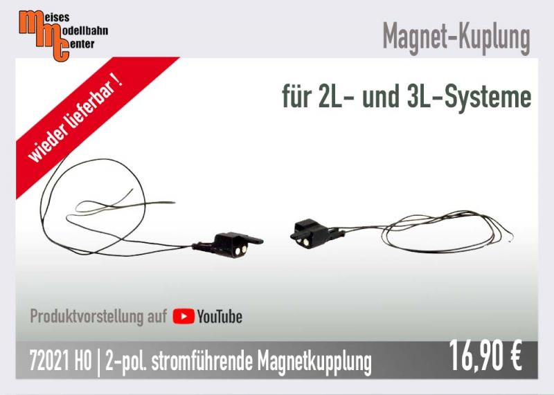 Stromführende Magnetkupplung