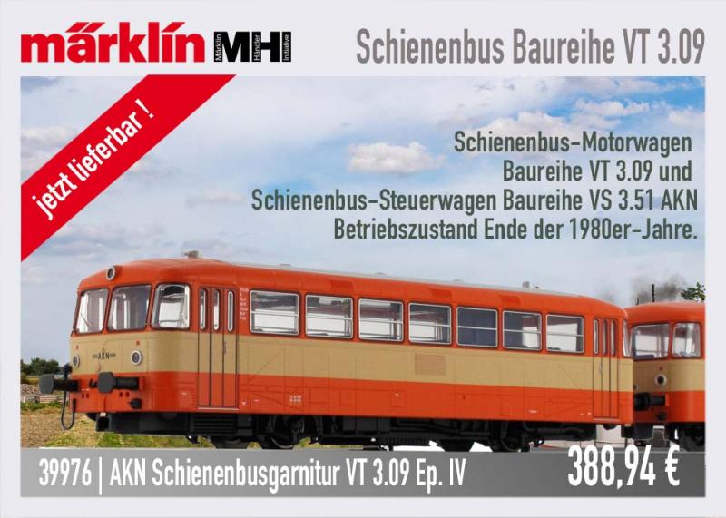 märklin 39976 Schienenbus MHI Sondermodell