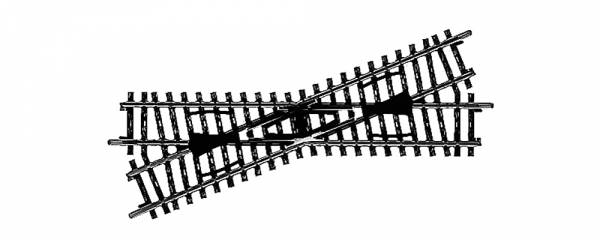 K-Gleis Kreuzung 22°, 30'. Märklin 2259