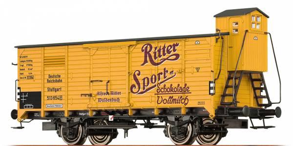 """BRAWA 67485 - Gedeckter Güterwagen Bauart G """"Ritter Sport"""" der DRG"""