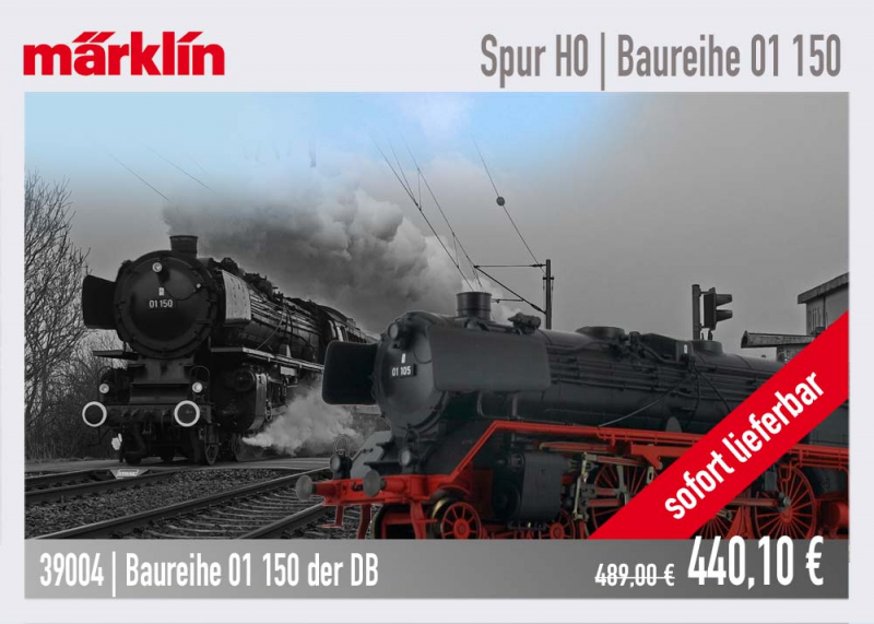 Märklin Dampflokomotive Baureihe 01 150 / 39004