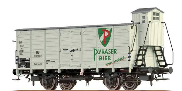 """BRAWA 67480 - Bierwagen Bauart G10 """"Pyraser Bier"""" der DB"""