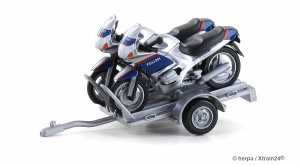 Herpa 940030 - Anhänger mit 2 x BMW Motorrad | Bild 1
