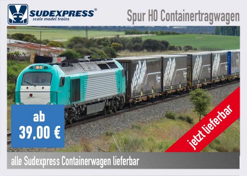 Sudexpress Containerwagen und Container