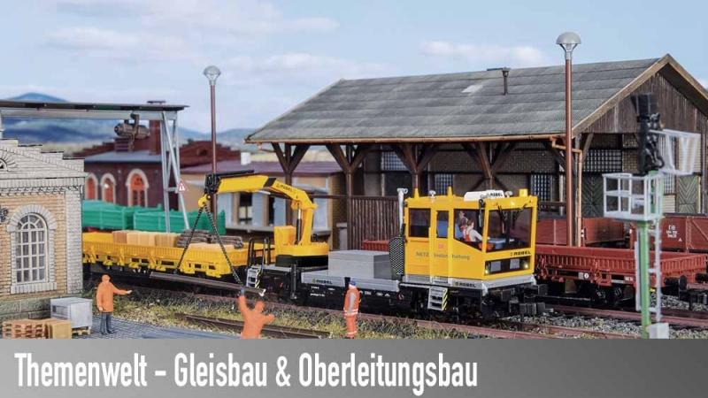 Modellbahn Gleis- und Oberleitungsbau