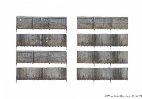 Woodland Scenics - WA3005 Sichtschutzzaun / Bauzaun, Spur 0