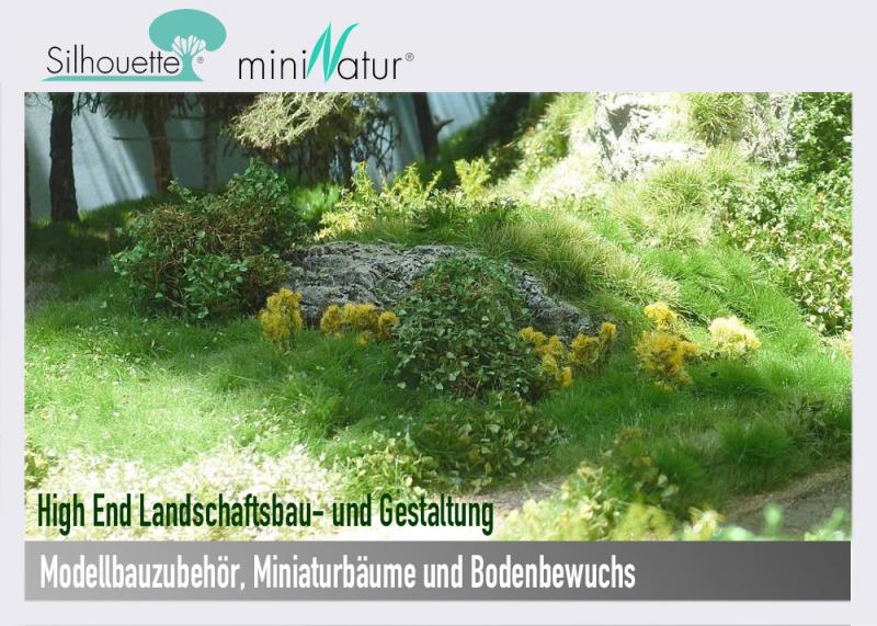 Silhouette Modellbau, Bäume, Sträucher, Landschaft