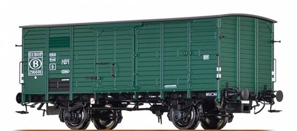 BRAWA 49077 - Gedeckter Güterwagen Bauart G10 der SNCB / EUROP