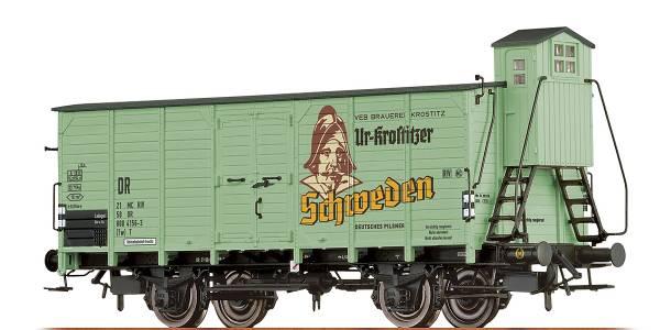"""BRAWA 67482 - Bierwagen Bauart G10 (Tw) T """"Ur-Krostitzer"""" der DR"""