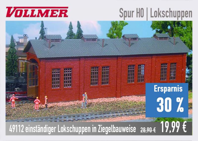 Vollmer Lokschuppen 49112 H0