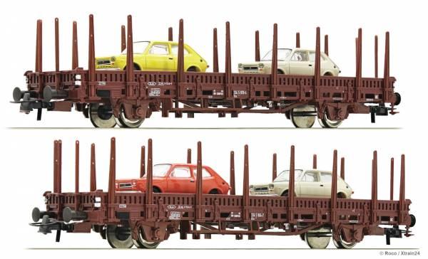 Roco 67086 - Set Rungenwagen Bauart Us, der RENFE