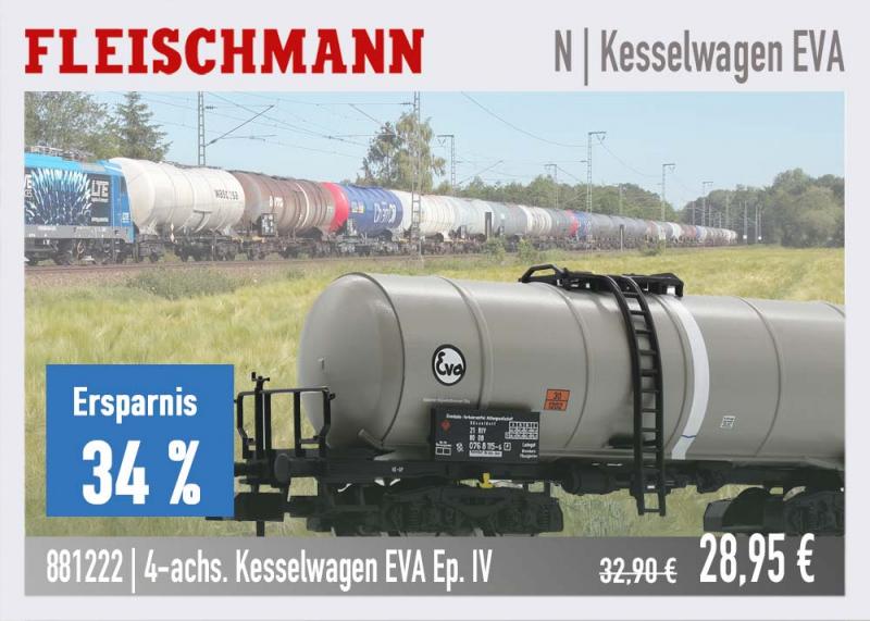 Fleischmann Kesselwagen EVA 881222