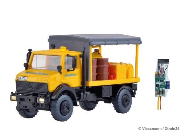 Kibri 10770. UNIMOG Abschmierfahrzeug Gleisbau