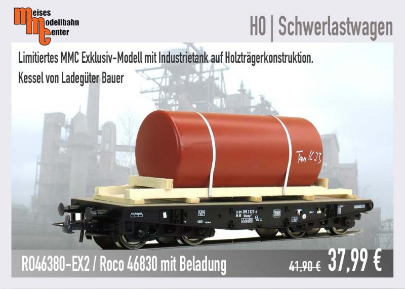 Roco Schwerlastwagen 46830 mit Beladung Ladegüter Bauer
