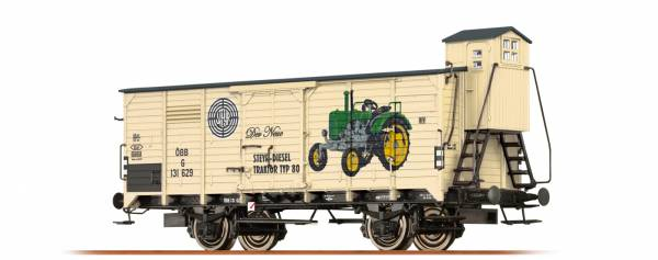 """Gedeckter Güterwagen G """"Steyr Puch"""" der ÖBB, Epoche I. BRAWA 49073"""