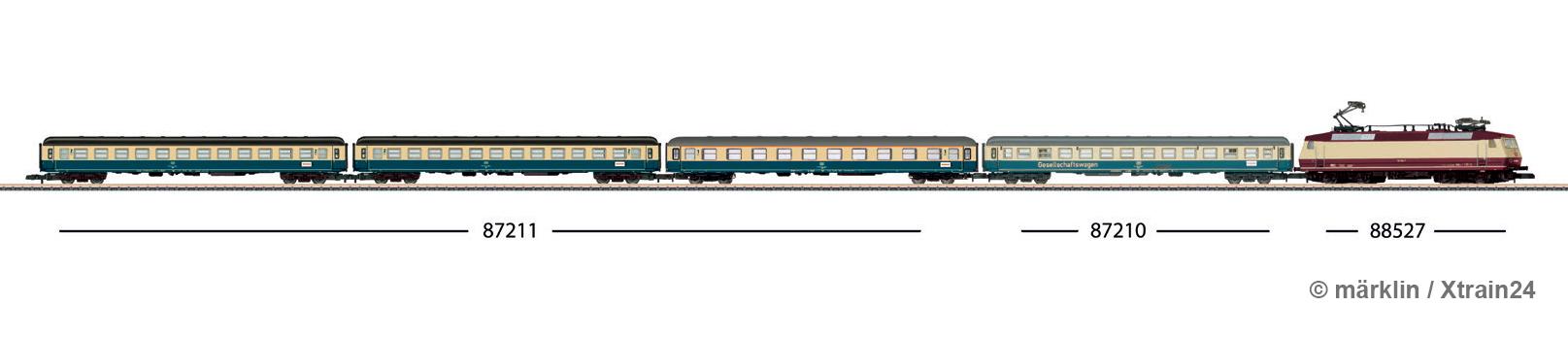 Zugbildung für märklin - 3-tlg. Set Abteilwagen Am 203 / Bm 234 der DB